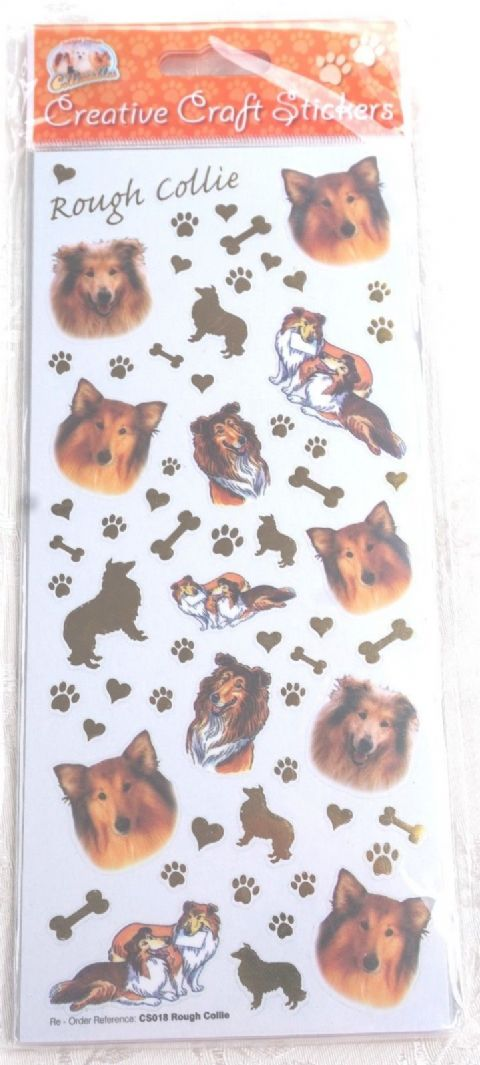 ROUGH COLLIE - CARD CRAFT STICKERS SCRAPBOOKING ETC